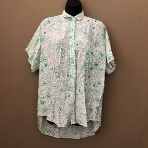Vintage Limited Express Oversized Button Down Top